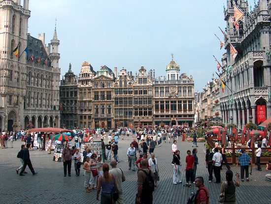 Photo of the main square of Brussels.